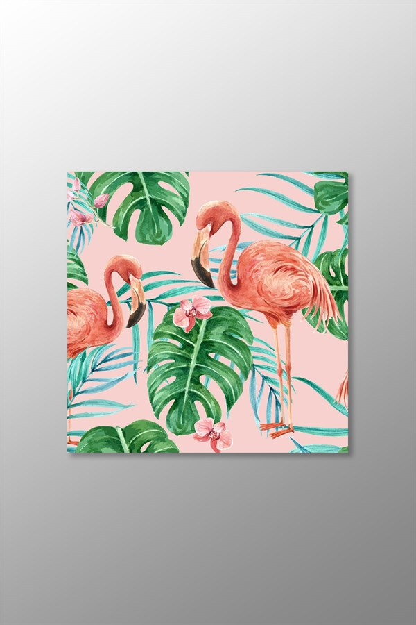 Flamingo Kanvas Tablo (Kare)