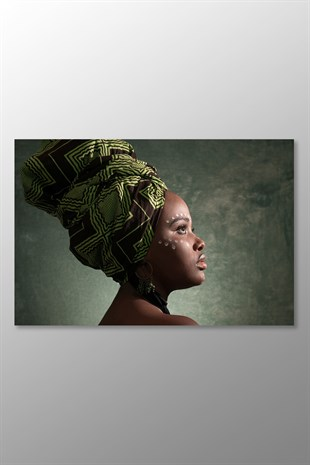 African Woman Kanvas Tablo