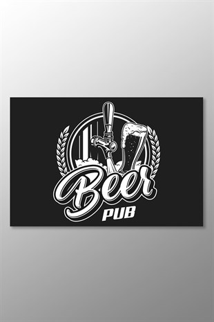 Beer Pub Kanvas Tablo (Yatay)