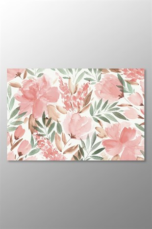 Pastel Watercolor Floral Kanvas Tablo