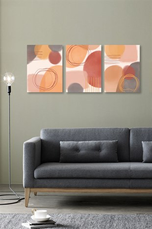 Soft Abstract Shapes Kanvas Tablo